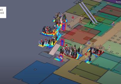 Візуалізація проблем евакуації людей з приміщення під час пожежі